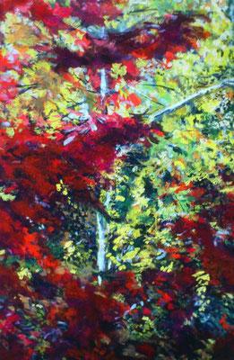 """Oktoberbätter III"", Acryl. 100x150cm, 2017"