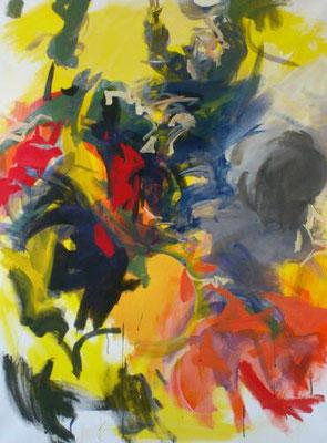 """""""Nach außen drei..."""", Acryl, 120x90cm, 2017, frei nach Martino Altomonte"""