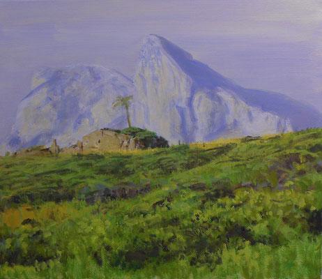 Felsen von Gibraltar, Acryl | 60 x 70 cm | 2012