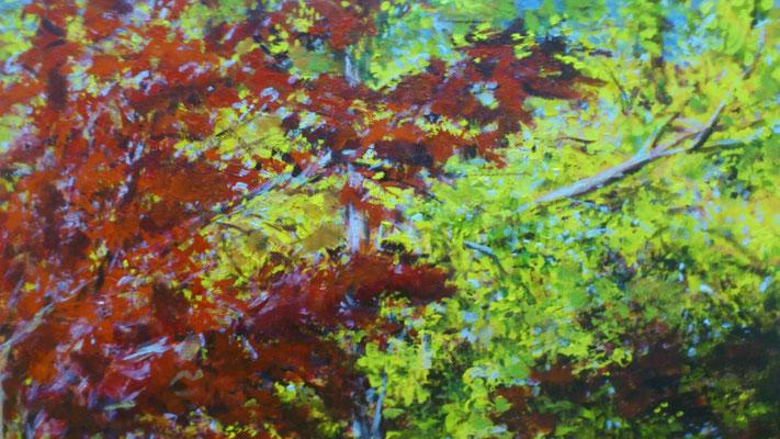 """Oktoberblätter"", Acryl, 150x100cm, 2013"