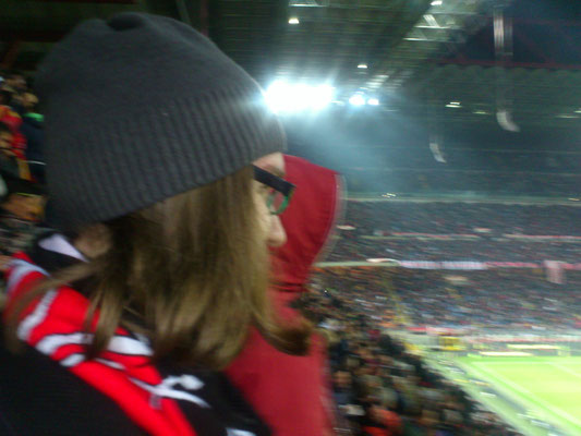 Thomas, AC Milan Fan, in San Siro, Mailand, 2016