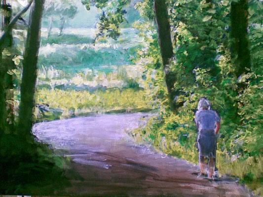 """""""Durchlichtet"""", Acryl auf Leinwand, 70x100cm, 2012"""