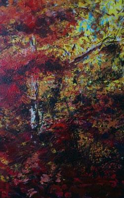"""Oktoberblätter"", Acryl, 100x150cm, 2013"