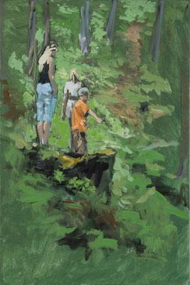 """Hinweisen"", Acryl, 50x80cm, 2015"