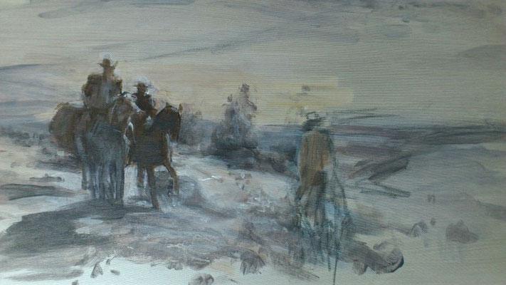 """Aufbrechen""(aus:""Sacramento""), Acryl, 50x70cm, 2012/13"