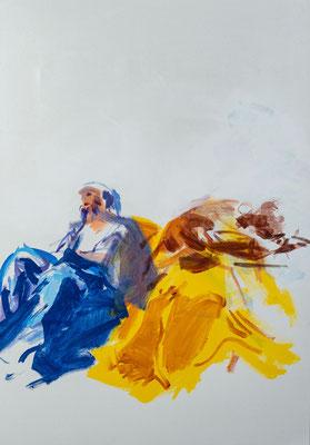 Jakobus der Ältere und seine Frau, Acryl | 100 x 70 cm | 2020