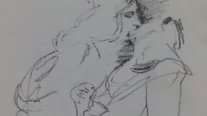 """Verfallen"", Bleistift auf Papier, A5, 2018"