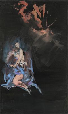 Magdalena, Acryl | 100x60cm | 2015, frei nach KS : Hl. Magdalena, Öl, 440x224cm, 1762, Pfarrkirche Waidhofen an der Ybbs