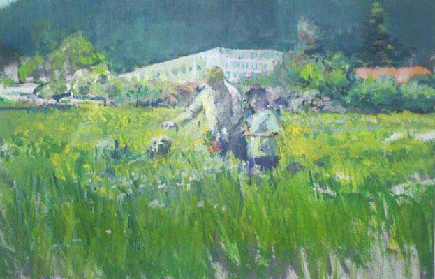 """""""Maienwiese"""", Acryl, 50x70cm, 2009"""