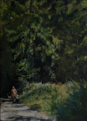 """""""Eintauchen"""", Acryl auf Leinwand, 70 x 50 cm, 2009"""
