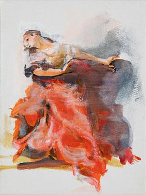 Barbara, Acryl   24 x18 cm  2019, frei nach Kremser Schmidt