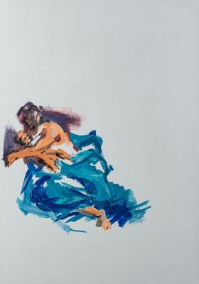 Die Frau des Jakobus des Jüngeren, Acryl | 100 x 70 cm | 2020, frei nach Kremser Schmidt