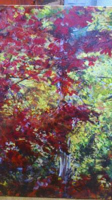 """""""Oktoberfärbung"""", Acryl, 70x100cm, 2014"""