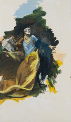 Reue des Petrus, Acryl | 120x70cm | 2015, frei nach KS : Reuiger Hl. Petrus, Öl, 186x120cm, 1756, Stift Seitenstetten