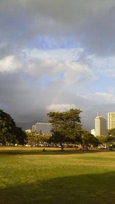 ハワイの虹(初日)