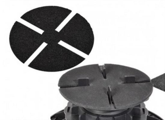 Stellfuss mit trittschutzpad 3 mm