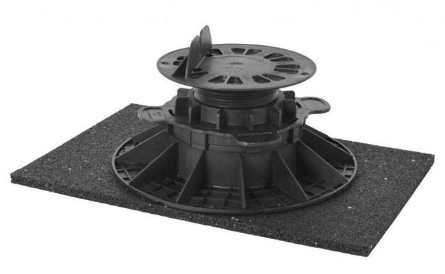 Stellfuss mit Schallschutzpad 200 x 200 x 15 mm