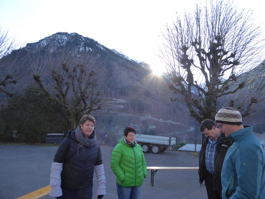 10 Minuten vor Beginn-die Sonne geht auf