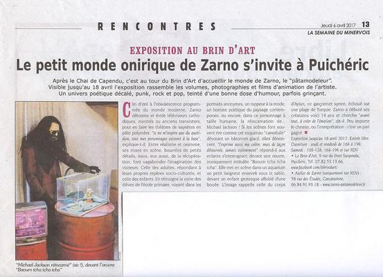 article semaine du minervois Carine Sarda-Daure