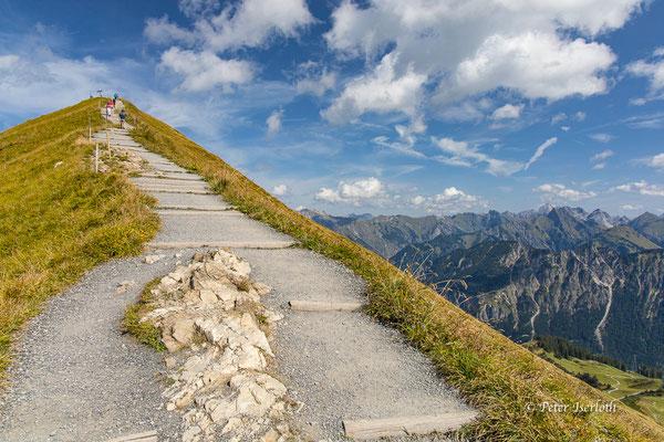 Der Aufstieg zum Fellhorn, Allgäu, Deutschland