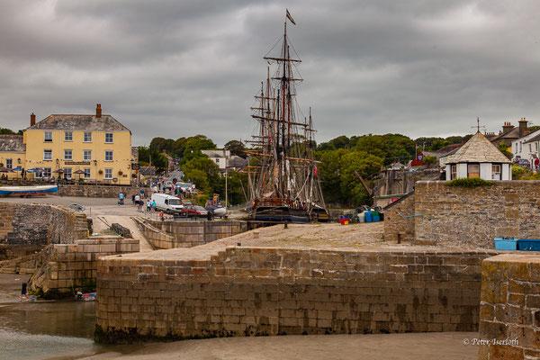 Hafen von Charlestown, Cornwell, England