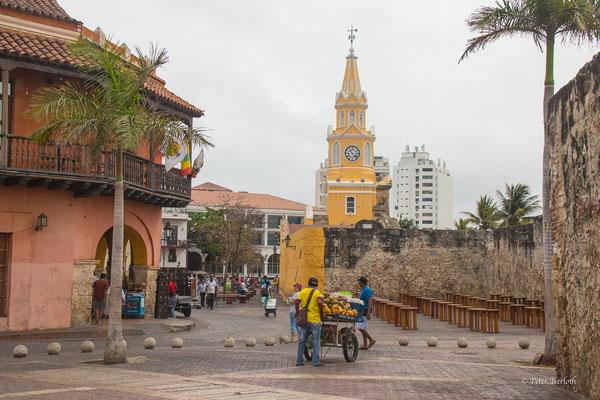 Der Marktplatz von Cartagena, Kolumbien