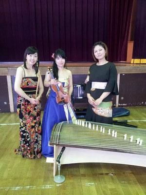 ヴァイオリン竹前景子さん 二十五絃箏内藤美和さんとご一緒にアウトリーチコンサート