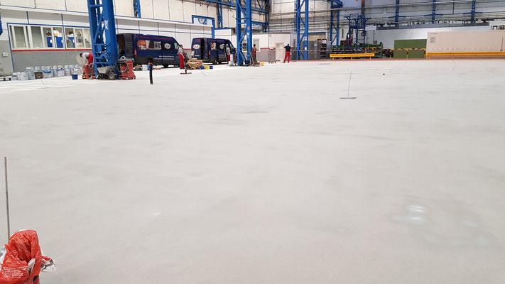 AFT Industriefußboden Beschichtung grau