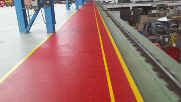 AFT Industriefußboden mit Markierung