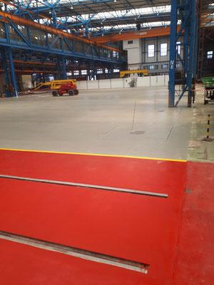 AFT Industriefußboden mit Markierung - rot