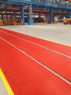 AFT Industriefußboden mit Markierung - Bahnen