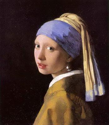 vermeer, perle, foulard, carré de soie, twill de soie, fanfaron, mon petit fanfaron