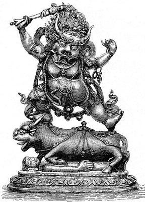 142. Yama, le dieu des morts, sans Yamî. En tibétain : Ćcos-rgyal pcyi-sgrub).