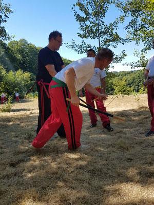 Trainingscamp in Doumailhac Frankreich / Unterweisung vom Datu