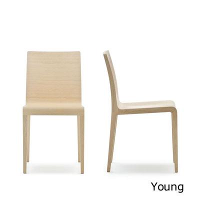 Young  silla comedor diseño sillon moderno   madera apilable Pedrali  Barcelona lacadira.com