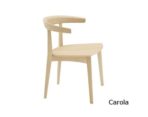 Carola SI silla madera tapizada andreu world Barcelona lacadira.com