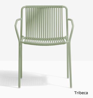 Tribeca pedrali sillón terraza outdoor cuerda y acero