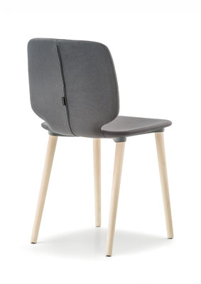 Babila soft  silla comedor diseño silla moderno  madera tapizada Pedrali  Barcelona lacadira.com