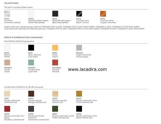 Tondina pop infinitidesign finishes colores lacadira