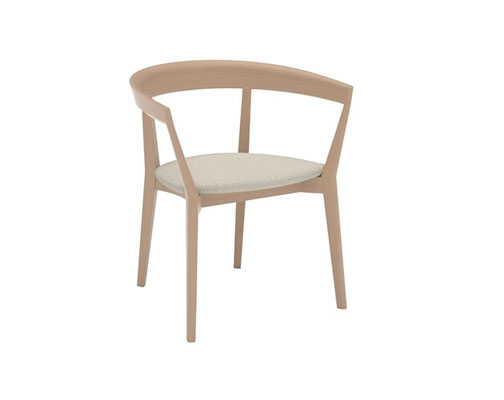 Carola extra ancha asiento tapizado