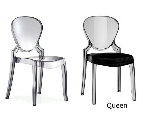 Queen silla transparente metacrilato comedor cocina Pedrali