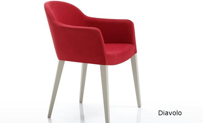 Diavolo sillón comedor tapizado