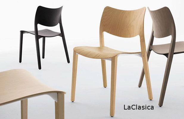 LaClasica   silla comedor diseño sillon moderno   madera tapizada tapizado Stua Barcelona lacadira.com