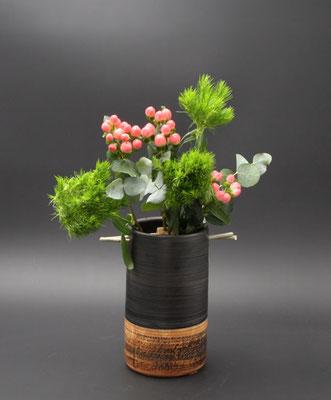 Weinkühler Vase Dekor Schiefer, H ca. 21 cm ø ca. 11 cm