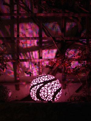 Lichtobjekt Kugel ø ca. 45 cm Perlmuttblau