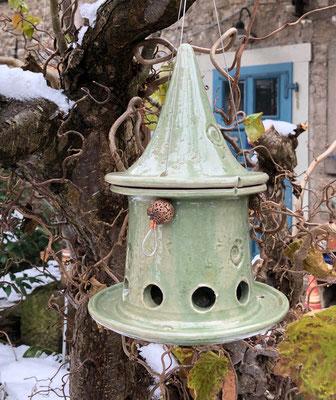 Vogelfutterhaus klein Sonderbestellung in seladongrün