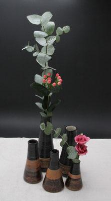 Vasen in verschiedenen Größen Dekor Schiefer, in allen Dekoren erhältlich