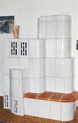 Keramik Kachelofen mit Ofeneinsatz von Brunner