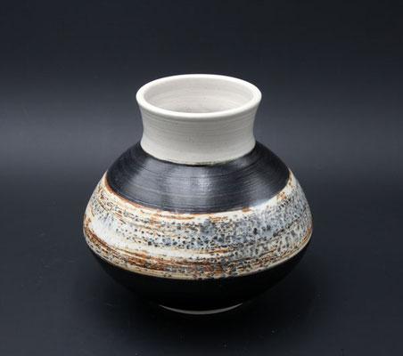Keramik Vase Dekor Schiefer