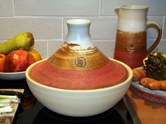 Keramik, Tajine Dekor Granatapfel